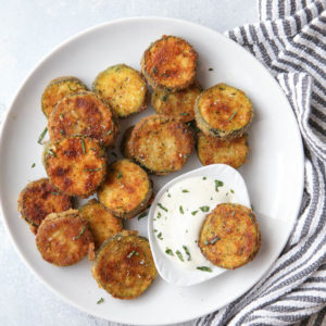 Pan-fried zucchini chips