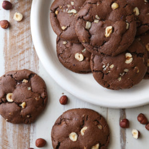 Chocolate Hazelnut Cookies | completelydelicious.com