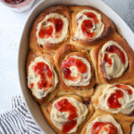 Peanut butter and jam sweet rolls are so fun!