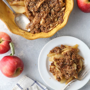 The easiest fall apple crisp