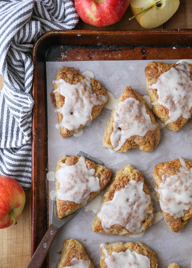 Apple Cinnamon Scones packed with so much fall flavor!