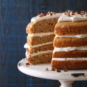 This Sweet Potato Spice Cake with Cream Cheese Frosting is a great fall dessert!
