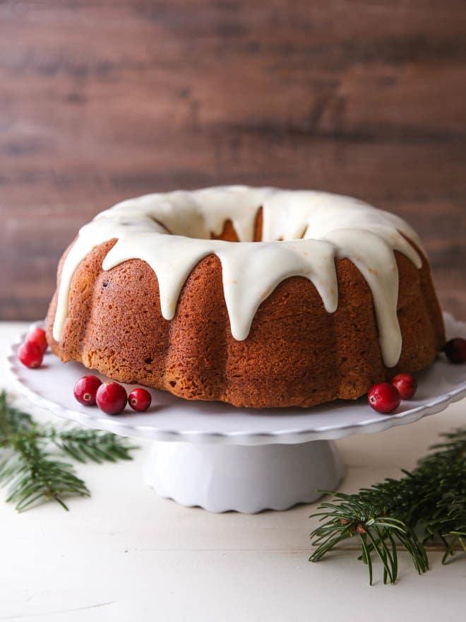 Cranberry Orange Cream Cheese Pound Cake