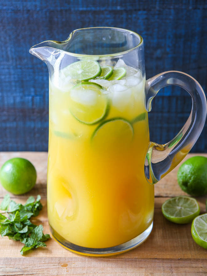 This mango pineapple punch is a sunny drink the whole family will love!