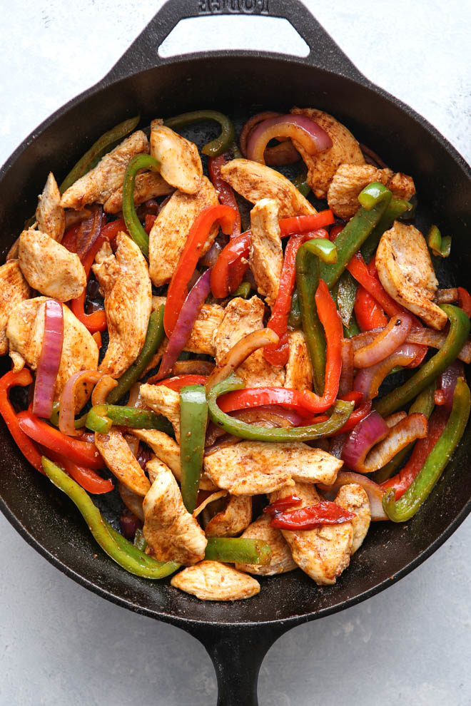 Chicken fajitas!