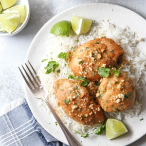 Quick and easy thai chicken made in the instant pot!