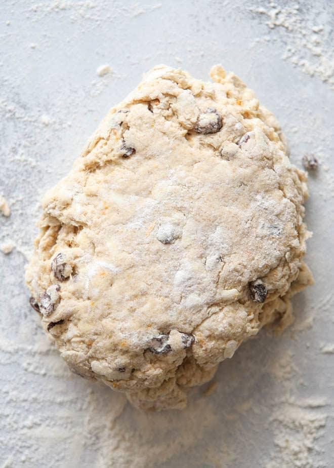 hot cross biscuit dough
