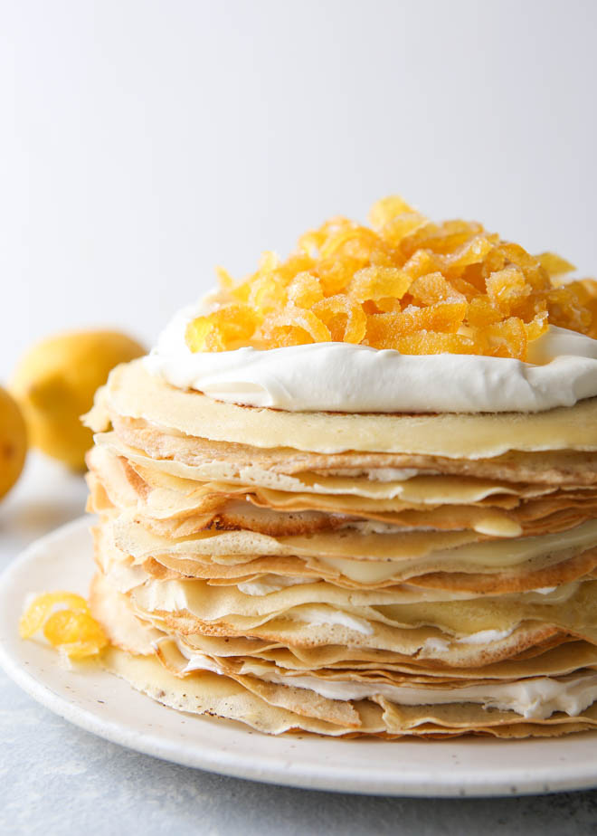 Lemon Mascarpone Crepe Cake Completely Delicious
