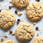 Ranch House Cookies are filled with peanut butter, oats, chocolate chips, and walnuts