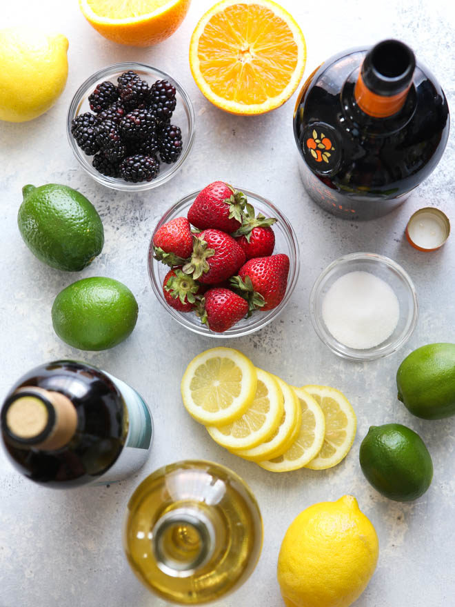 Simple ingredients for summer sangria