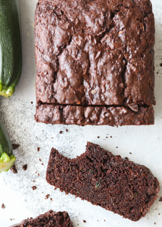 This the perfect chocolate zucchini bread recipe!