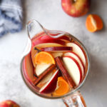 Spiced apple cider sangria is the perfect fall cocktail!
