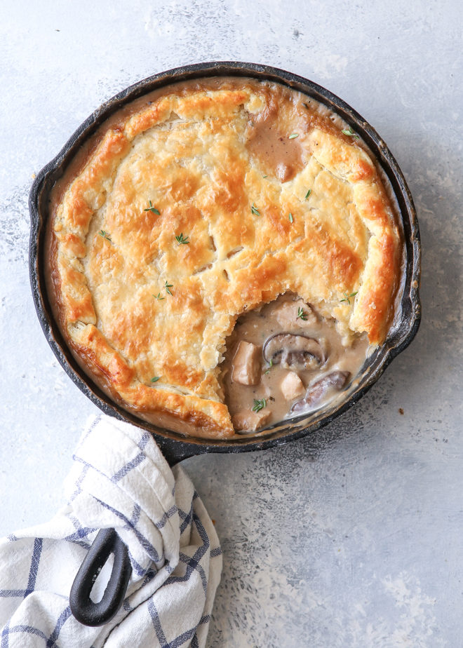Turkey mushroom pie is the best way to use up leftover turkey