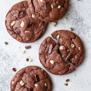 Soft and fudgy chocolate mint cookies are a wonderful treat!