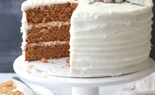 Gingerbread Layer Cake with Cream Cheese Buttercream
