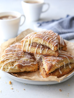 Cinnamon-sugar scones are light and tender and packed with so much cinnamon-sugar flavor!