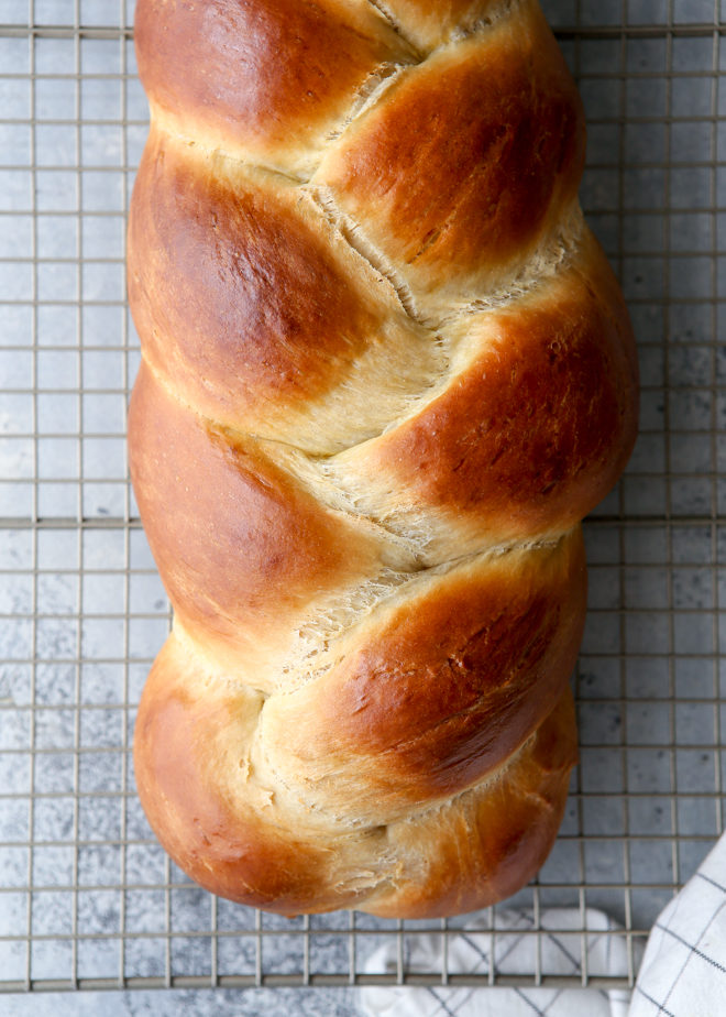 Light, tender, and super flavorful braided challah bread