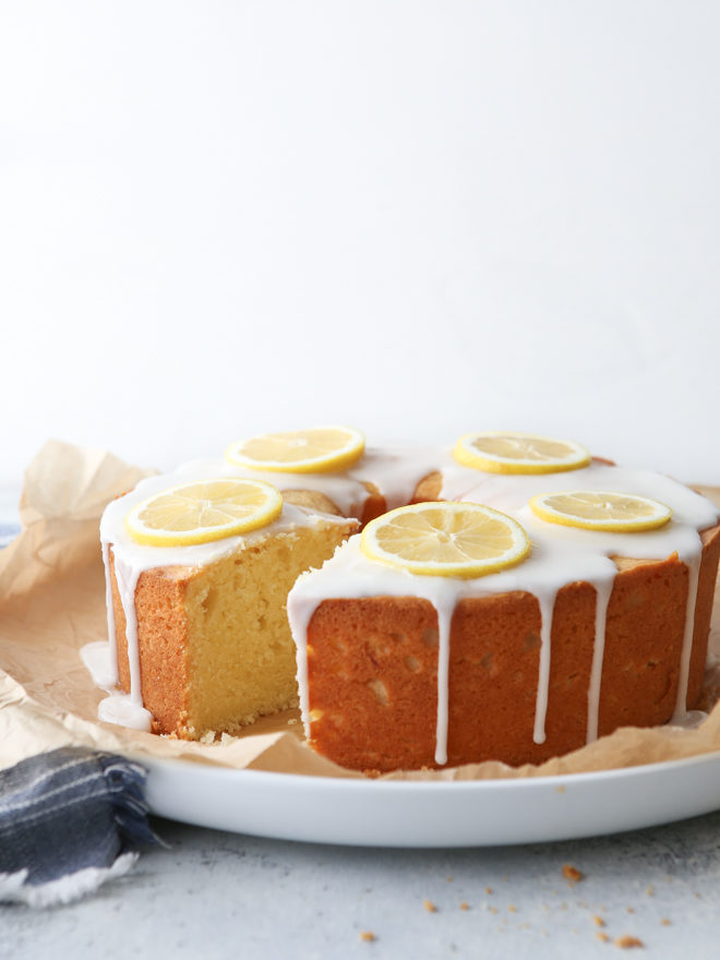 This light and tender cream cheese pound cake full of zesty lemon flavor is elegant enough for a dinner party, but easy enough for a busy weeknight!