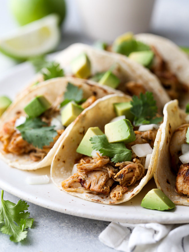 Shredded Chicken Street Tacos Completely Delicious
