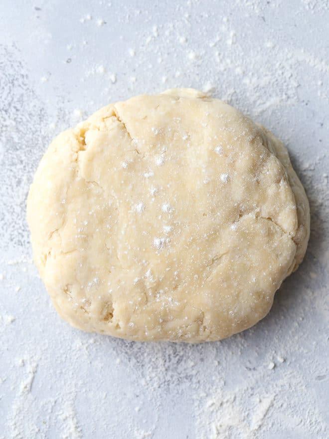 Pie dough for homemade strawberry pop tarts