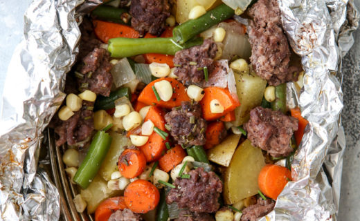 Beef and Veggie Tin Foil Dinners
