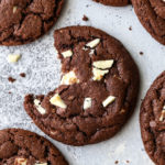 Soft and fudgy chocolate cookies filled with white chocolate chunks are an irresistible treat!