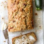 Two favorite quick bread recipes combine into this moist and flavorful banana zucchini walnut bread!