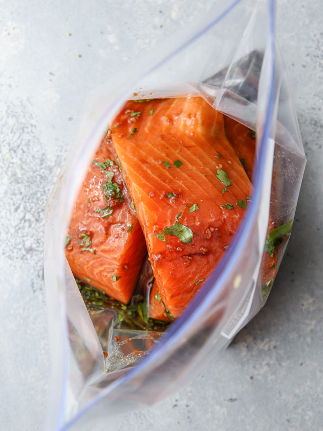 Salmon with an Asian marinade has so much flavor!