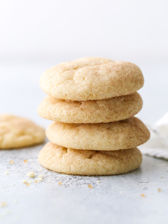Soft and chewy snickerdoodles with a hint of cinnamon. A true classic!