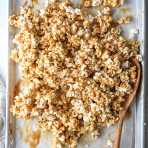 This is our family's favorite soft caramel corn recipe. It's chewy and gooey, and completely irresistible!