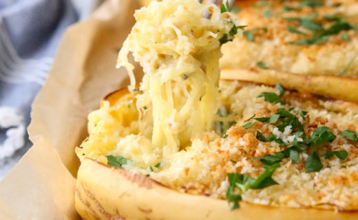 Twice-Baked Spaghetti Squash and Cheese