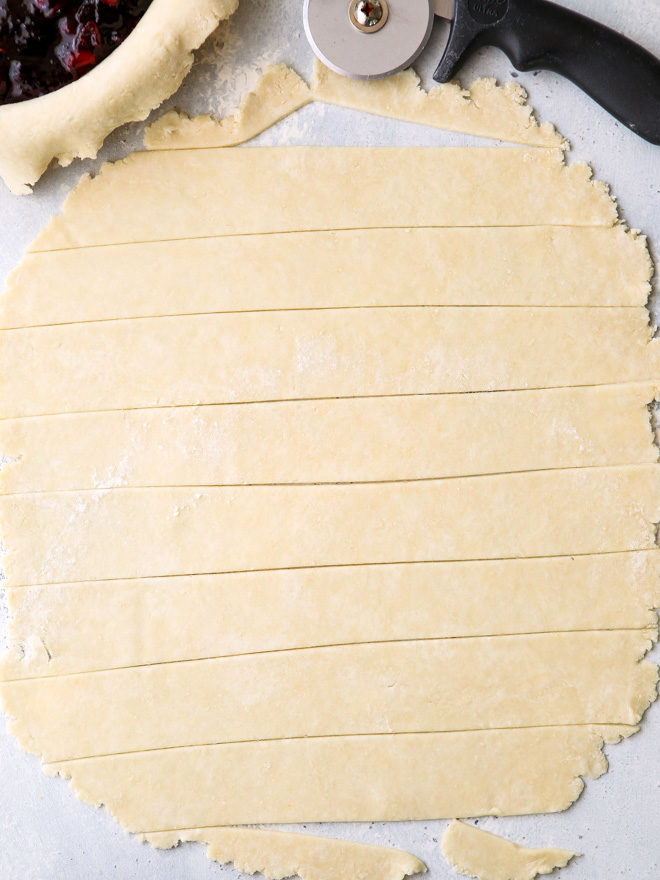 making a pie crust lattice is easier than you think