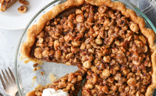 Pumpkin Pie with Nut Praline
