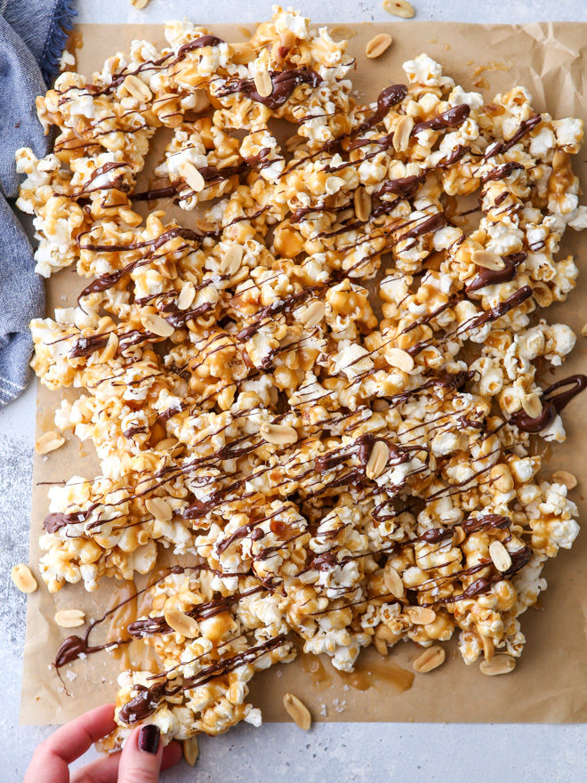 Chocolate Caramel Corn Completely Delicious