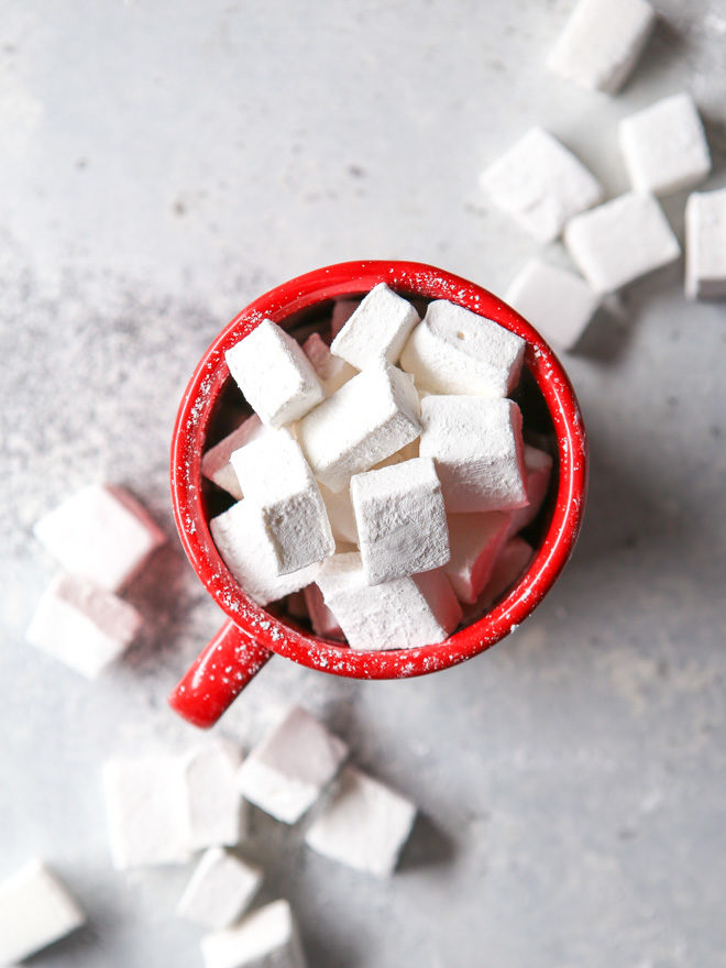 Homemade marshmallow are the perfect topping for hot cocoa