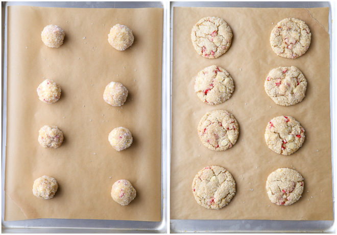 Super soft and chewy white chocolate peppermint cookies are the ultimate holiday treat!