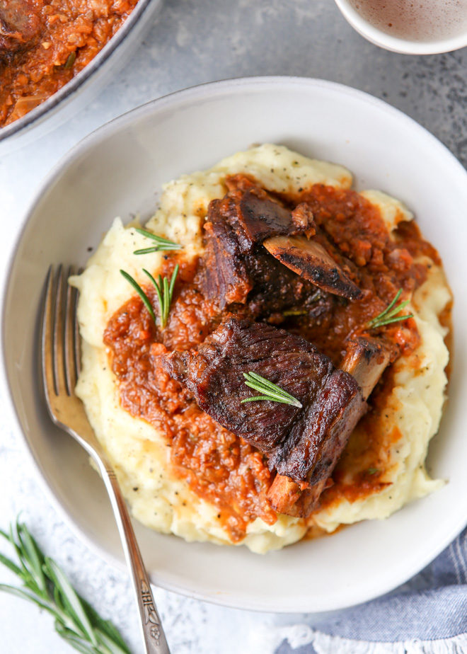 Beer braised short ribs are the ultimate comfort food