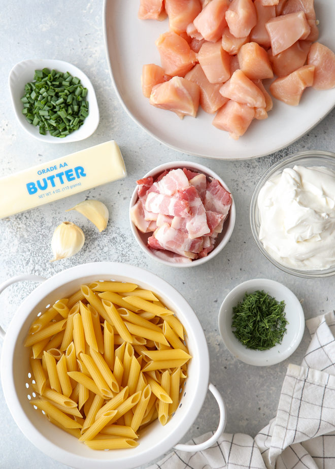 chicken bacon ranch pasta ingredients