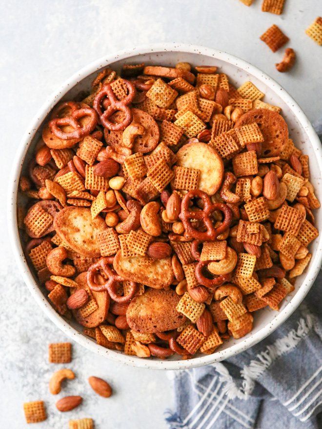 Sweet And Spicy Snack Mix Completely Delicious