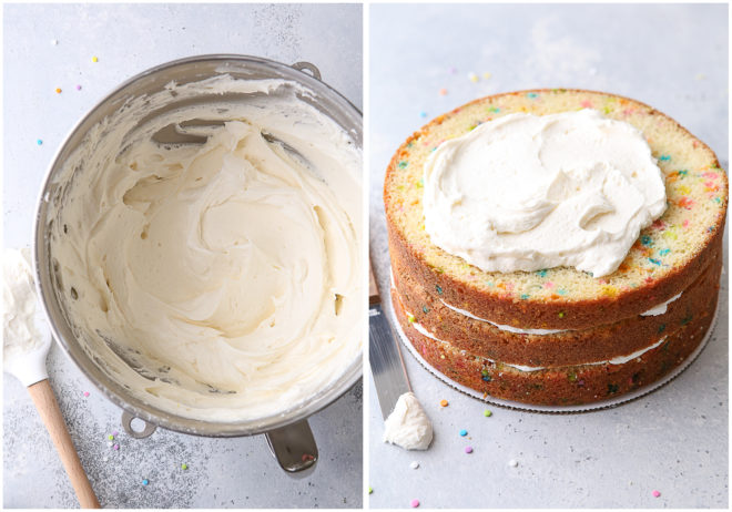 Building a funfetti layer cake