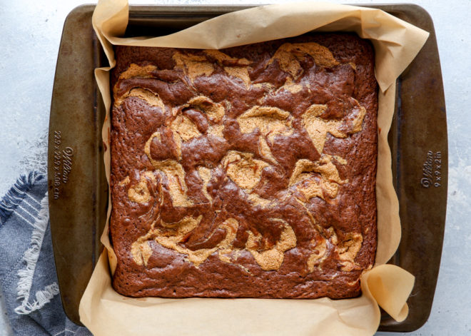 These peanut butter swirl brownies are just as amazing as they sound. Rich chocolate brownies with a swirl of peanut butter filling— irresistible!