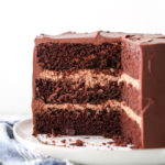 The secret ingredient to this incredibly rich and moist chocolate cake is sour cream!