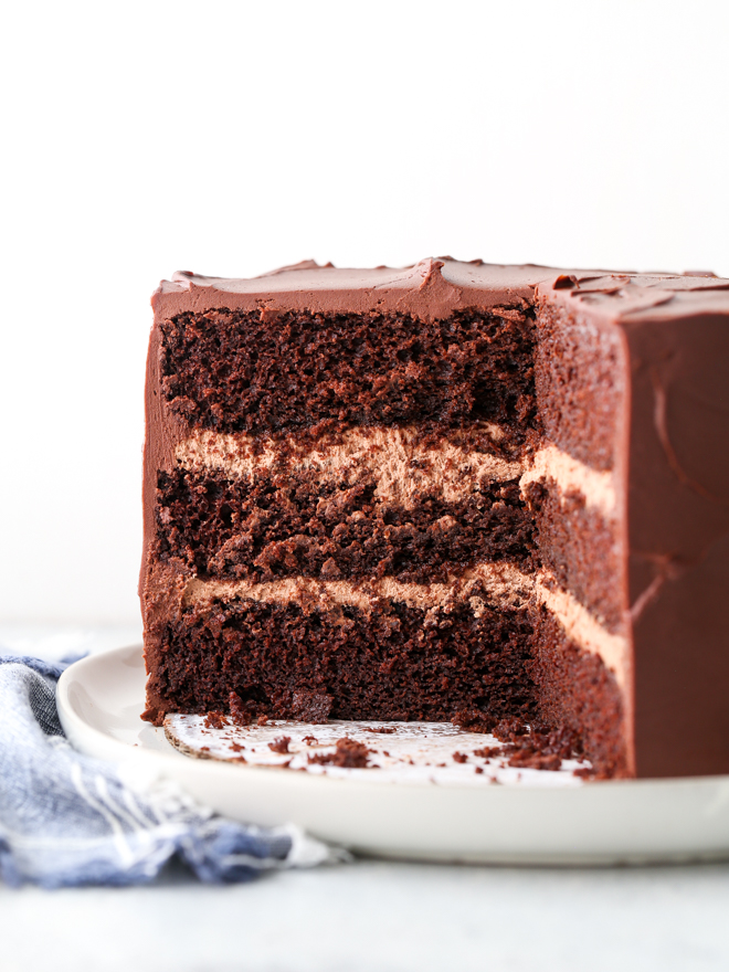 Chocolate Sour Cream Cake Completely Delicious