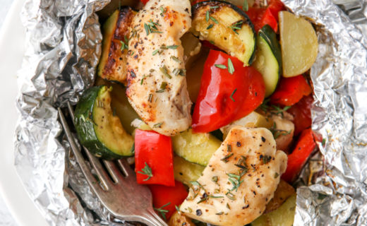 Chicken and Veggie Tin Foil Dinners