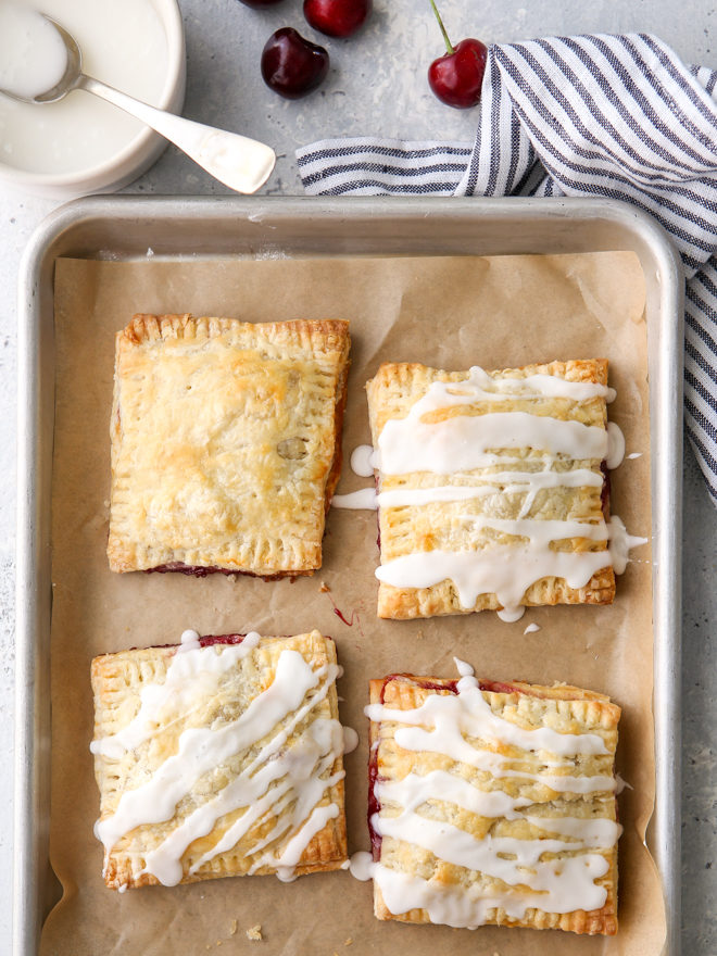 drizzling hand pies with icing