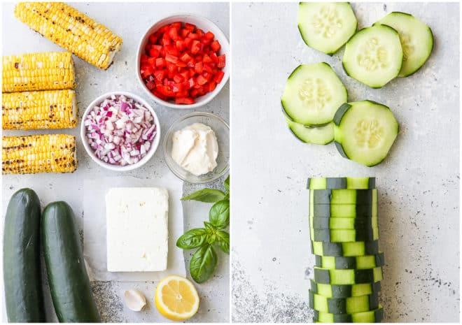ingredients for cucumber bites