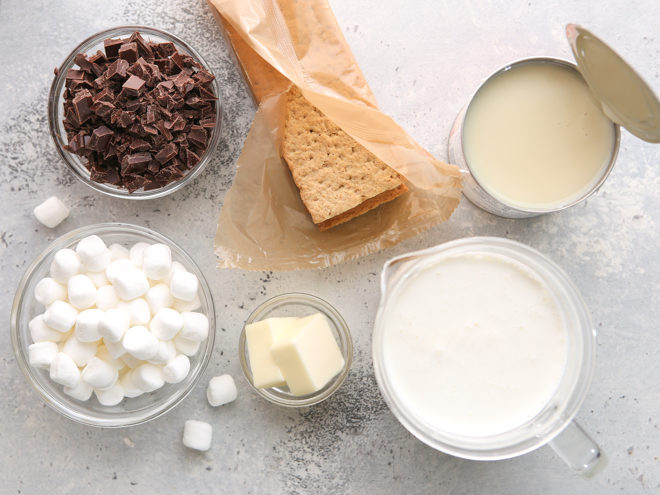s'mores ice cream ingredients