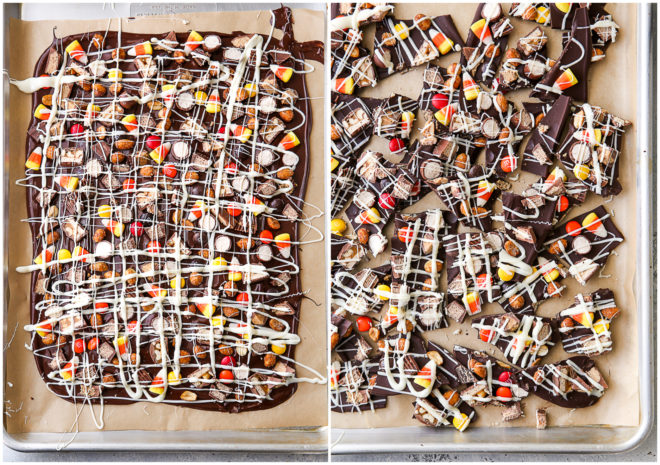 candy bark and broken pieces