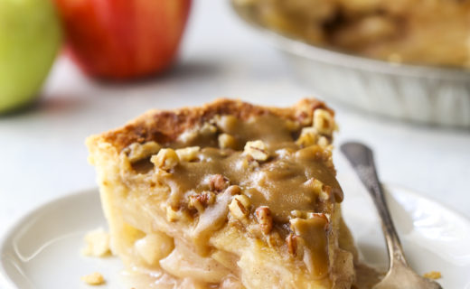 Apple Pear Praline Pie