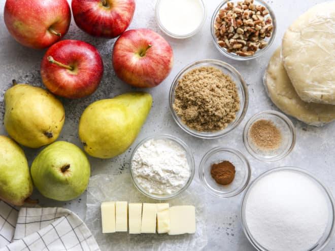 apple pear praline pie ingredients